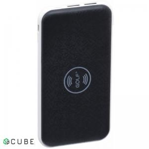 Power Bank с БЗ GOLF W2 Wireless 8000mAh Black