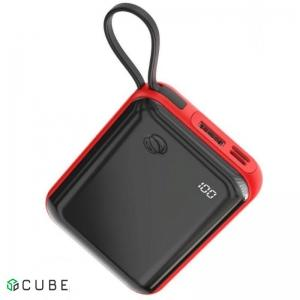Power Bank Baseus Mini S Digital Display 3A Power Bank 10000mAh (With Type-C Cable)Red
