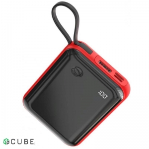 Power Bank Baseus Mini S Digital Display 3A Power Bank 10000mAh (With IP Cable)Red