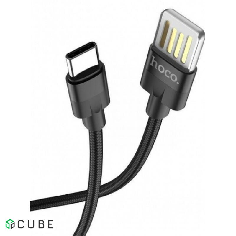 Кабель HOCO U55 Outstanding Cable для Type-C 2-Sided/2,4A/1,2m. Black