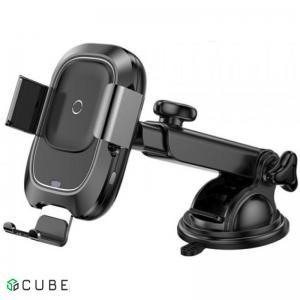 Держатель с БЗ Baseus Big Ears Car Mount Wireless Charger Black