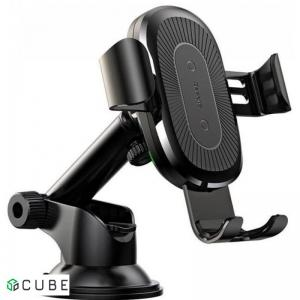 Держатель с БЗ Baseus Wireless Charger Gravity Car Mount(osculum type )Black