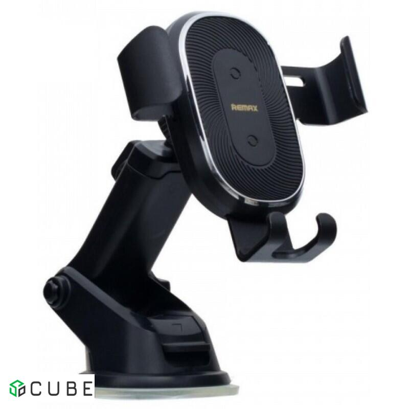 Автодержатель БЗУ REMAX Wireless Charger and Suction Mount RM-C37 Black