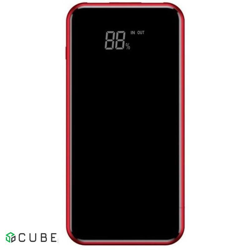 Power Bank Baseus Wireless Charge Power Bank 8000 mAh Red