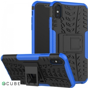 Чехол-накладка TOTO Dazzle Kickstand 2 in 1 Case Apple iPhone XS Max Blue