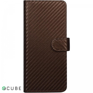 Чехол-книжка TOTO Book Carbon Fiber Universal Cover 5,8-6,5