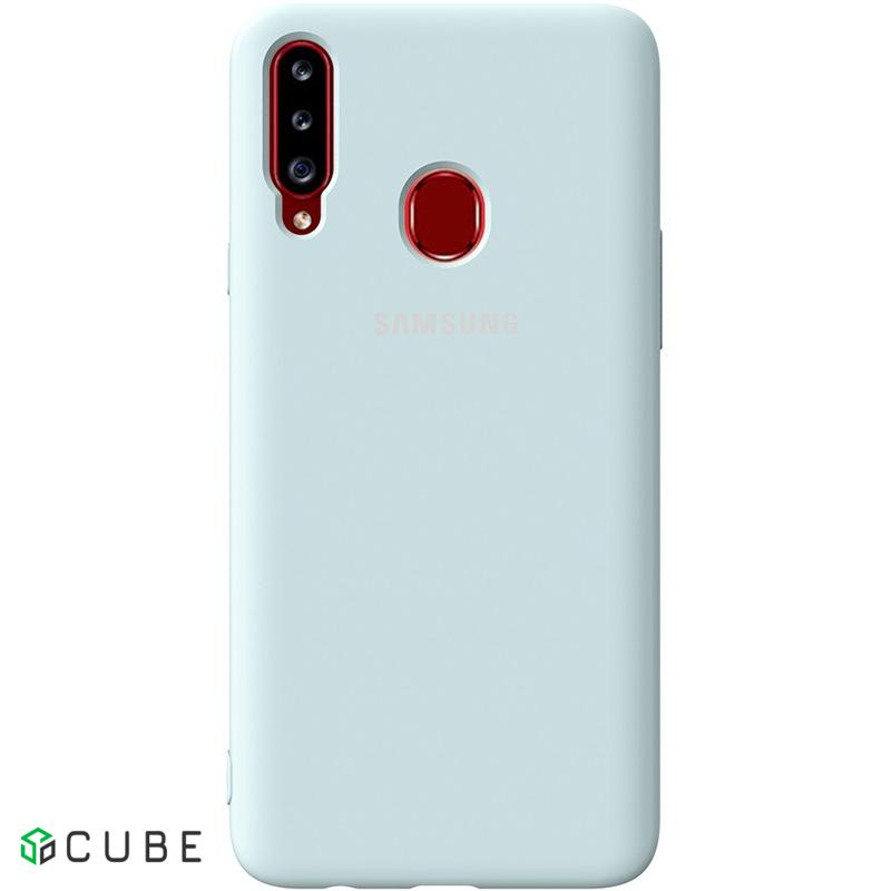 Чехол-накладка TOTO Silicone Full Protection Case Samsung Galaxy A20s Sky Blue