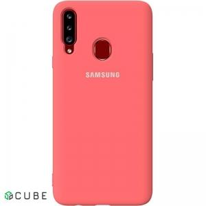 Чехол-накладка TOTO Silicone Full Protection Case Samsung Galaxy A20s Peach Pink