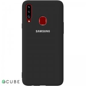 Чехол-накладка TOTO Silicone Full Protection Case Samsung Galaxy A20s Black