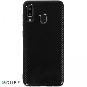 Чехол-накладка TOTO TPU Carbon Fiber 2,0mm Case Samsung Galaxy A20/A30 Black