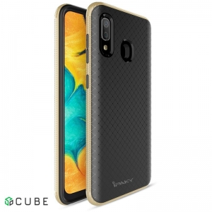 Чехол-накладка Ipaky Bumblebee Series/PC Frame With TPU Case Samsung Galaxy A20/A30 Gold