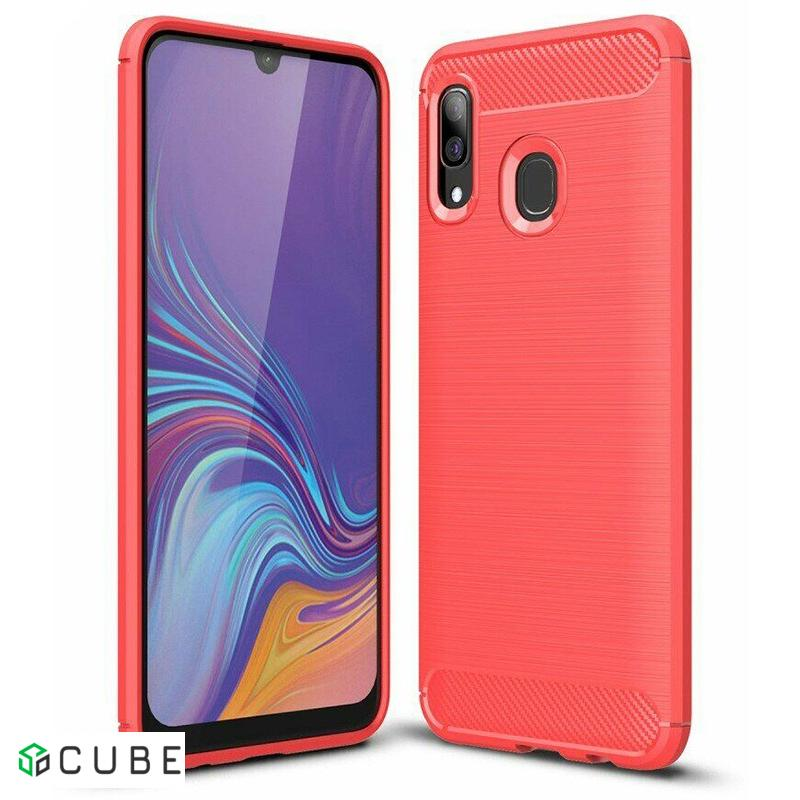 Чехол-накладка Ipaky Slim Anti-Fingerprint TPU Case Samsung Galaxy A20/A30 Red