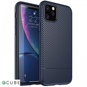 Чехол-накладка Ipaky Moosy Series/TPU With Carbon Fiber Case Apple iPhone 11 Pro Max Blue