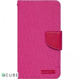 Чехол-книжка Goospery Canvas Diary Universal 4.5'-5.0' Hot Pink