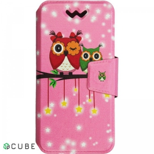 Чехол-книжка TOTO Book Universal cover Picture 4.5'-5.0' Cute Owls
