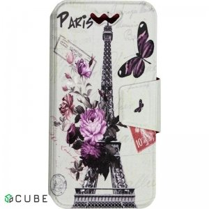 Чехол-книжка TOTO Book Universal cover Picture 4.5'-5.0' Paris