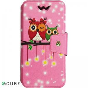 Чехол-книжка TOTO Book Universal cover Picture 5.0'-5.5' Cute Owls