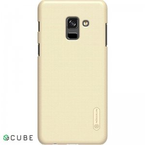 Чехол-накладка Nillkin Super Frosted Shield Samsung Galaxy A8 Plus 2018 Gold