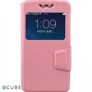 Чехол-книжка TOTO Book Silicone Slide Universal Cover With Window 4.9'-5.2' Pink