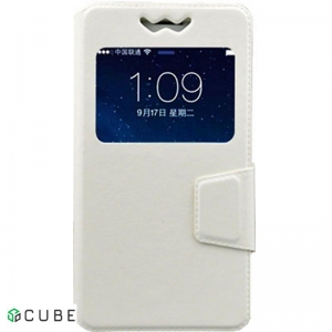 Чехол-книжка TOTO Book Silicone Slide Universal Cover With Window 4.9'-5.2' White
