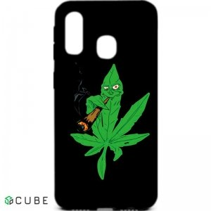 Чехол-накладка TOTO Cartoon Soft Silicone TPU Case Samsung Galaxy A40 Cannabis Black