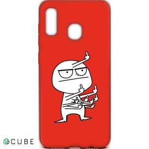 Чехол-накладка TOTO Cartoon Soft Silicone TPU Case Samsung Galaxy A20/A30 FK 9 Red