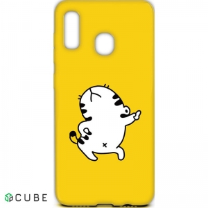 Чехол-накладка TOTO Cartoon Soft Silicone TPU Case Samsung Galaxy A20/A30 Cat Yellow