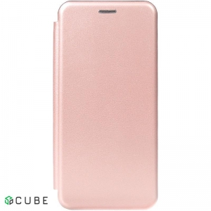Чехол-книжка TOTO Book Rounded Leather Case Samsung Galaxy S9+ Rose Gold