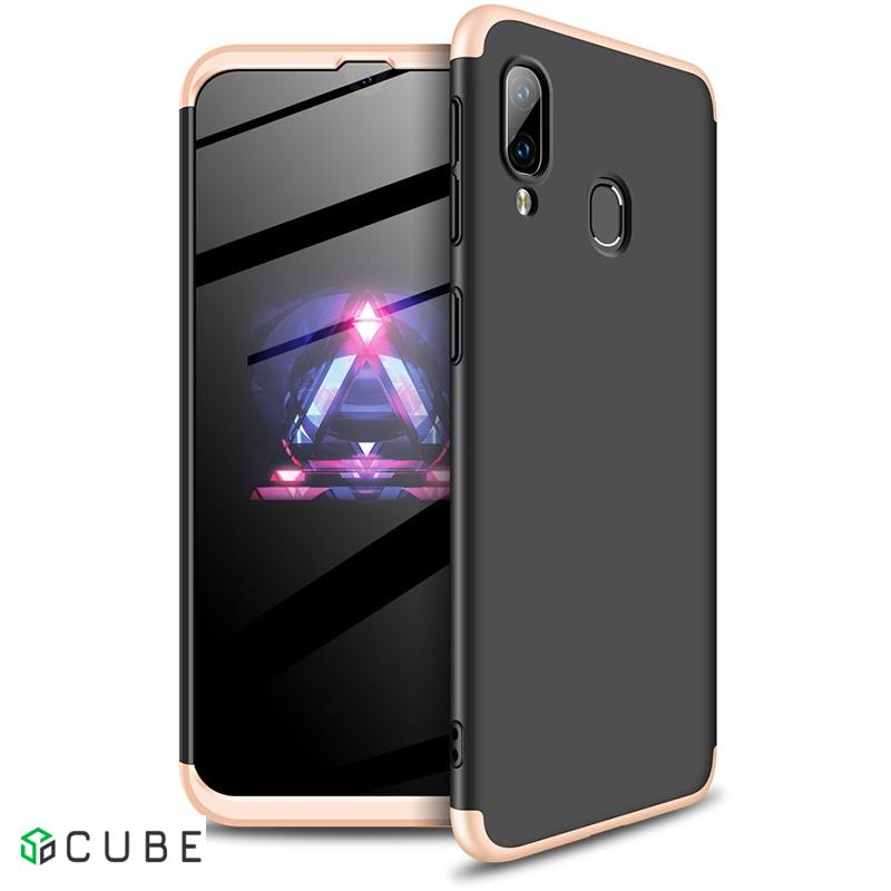 Чехол-накладка GKK 3 in 1 Hard PC Case Samsung Galaxy A40 Gold/Black