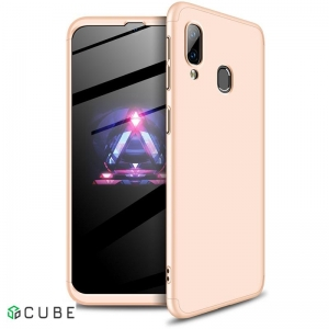Чехол-накладка GKK 3 in 1 Hard PC Case Samsung Galaxy A40 Gold